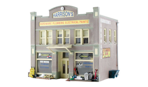 Woodland Scenics BR4921 Harrison's Hardware N scale Built-Up
