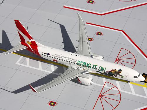 "Gemini Jets G2QFA439 Qantas 737-800 ""Bring It On Rugby"" VH-VXG 1:200"