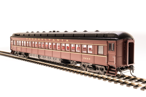 BLI 4360 PRR P70R with Ice AC, Tuscan Red w/ Gold Lettering & Stripes, 4-Car Set, HO
