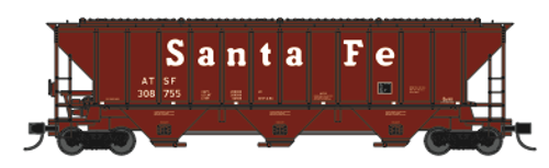 "Trainworx 24425-18 ATSF ""Santa Fe"" mid 80's repaint PS2CD high side covered hopper N scale #311153"