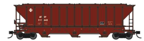 Trainworx 24425-20 ATSF 90's Repaint PS2CD high side covered hopper N scale #311642