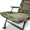 Abode Rip-Stop DPM CAMO Carp Fishing Camping Fleece Armchair High Back Sprung seat Recliner Chair