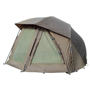 "Abode 60"" Oval Carp Fishing Brolly Umbrella Peaked Bivvy System"