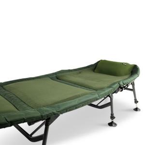 Abode Air-Lite Alloy 6 Leg Fleece Carp Fishing Camping Bedchair Air-Mesh Pillow