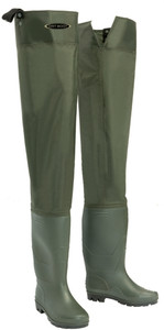 Dirt Boot Nylon Hip Waders 100% Waterproof Fly Coarse Fishing Thigh Muck Wader