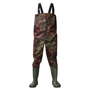 Dirt Boot Camo Nylon Chest Waders 100% Waterproof Fly Coarse Fishing Muck Wader