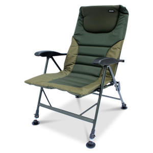 Abode Airlite Alloy Padded Easy-Arm Carp Fishing Camping Recliner Chair