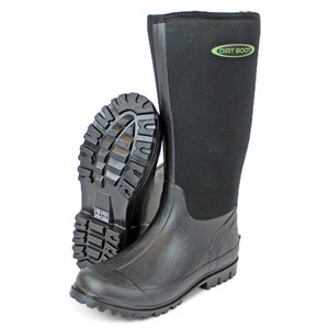 DIRT BOOT, Neoprene, Wellington, Muck, Boot, Womens, Mens, Black, wellies, welly