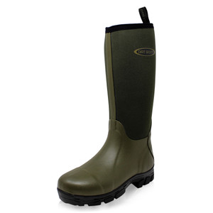 Dirt Boot, Neoprene, Wellington, Muck, Field, Fishing, Boots, Wellies, Black, Green