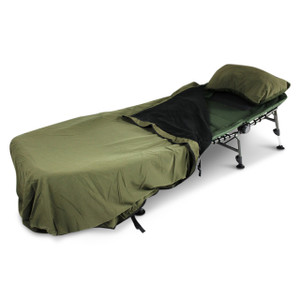 Abode Bedchair Carp Fishing Camping Peach Skin Bed Cover & Pillow