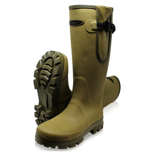 Dirt, Boot, Neoprene, lined, Gamekeeper, Wellington, Muck, Field, Gusset, Boots, Khaki