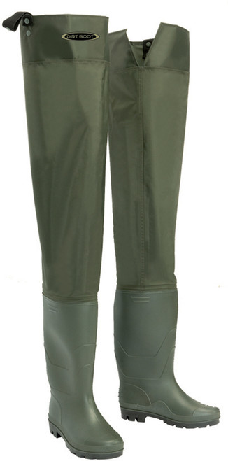 Dirt, Boot, Nylon, Hip, Waders, 100%, Waterproof, Fly, Coarse, Fishing, Thigh, Muck, Wader