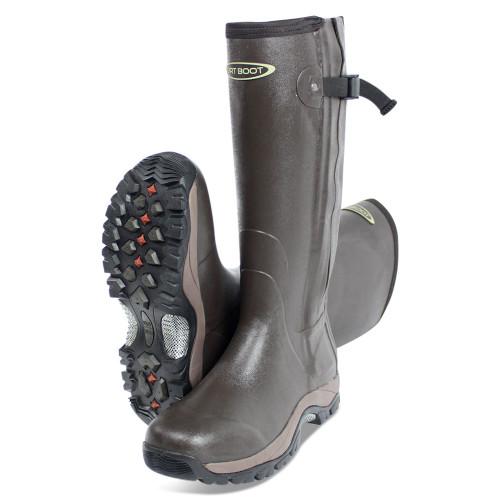 Dirt, Boot, Neoprene, Rubber, Wellington, Muck, Boot, Pro, Sport, Hunt, Zip, Brown