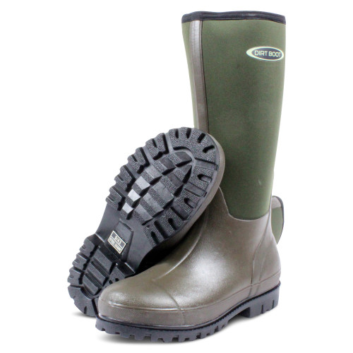 DIRT BOOT, NEOPRENE, WELLINGTON, MUCK, BOOT, GREEN