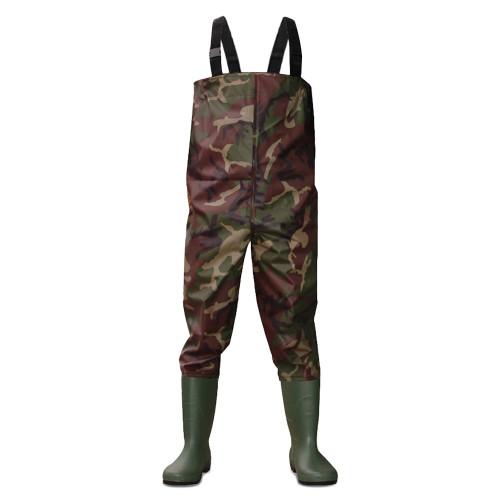 Dirt, Boot, Camo, Nylon, Chest, Waders, 100%, Waterproof, Fly, Coarse, Fishing, Muck, Wader