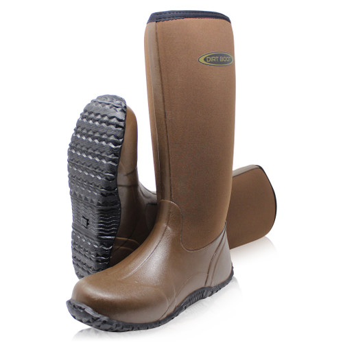 Dirt, Boot, Neoprene, Wellington, Muck, Field, Fishing, Boots, Wellies, Ladies, Mens, Brown