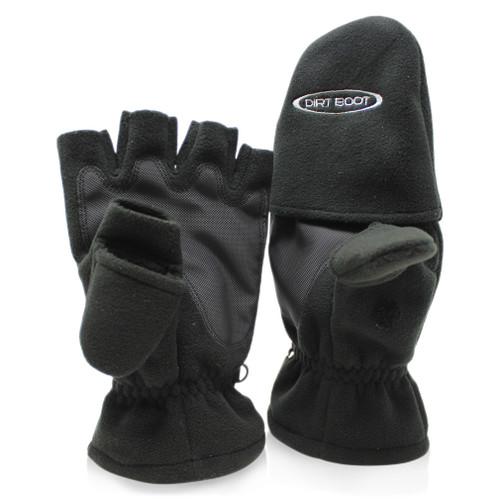 Abode, Polar, Fleece, Carp, Fishing, Camping, Folding, Fingerless, Mitten, Gloves