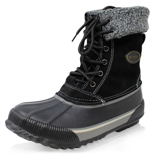 Dirt Boot Thermal Lined Winter Waterproof Leather Snow Boots