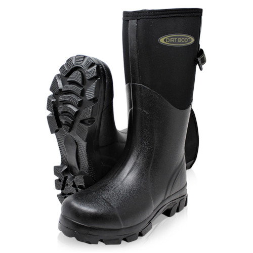 Dirt, Boot, Neoprene, Wellington, Muck, Field, Boots, Adjustable, Gusset, Rain, Thermal, Winter, Wellies