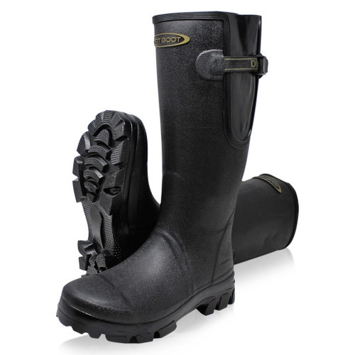 DIRT, BOOT, NEOPRENE, LINED, GAMEKEEPER, WELLINGTON, MUCK, FIELD, GUSSET, BOOTS, BLACK