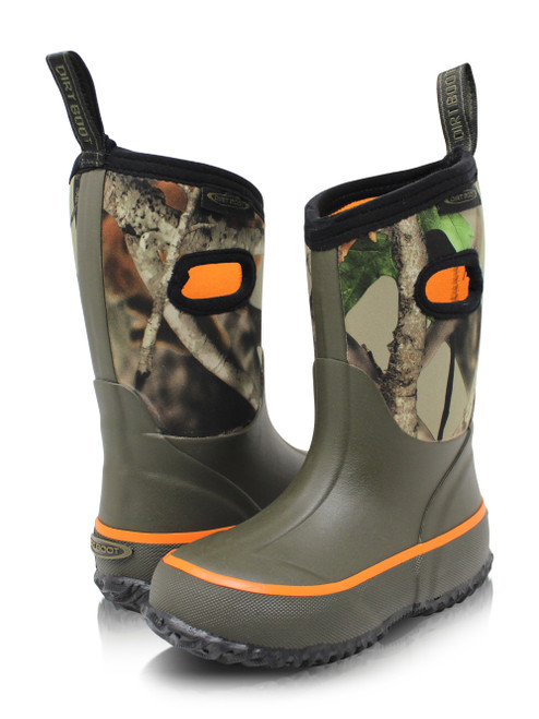 Dirt boot, Neoprene, Wellington, Muck, Field, Fishing, Boots, Wellies, Boys, Girls, Kids, Green/Camo, Town, County, Country, Festival, Dog, walking, mud, muddies