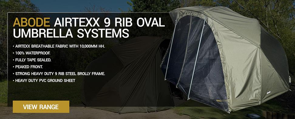Abode Airtexx 9 Rib Oval Umbrella Systems