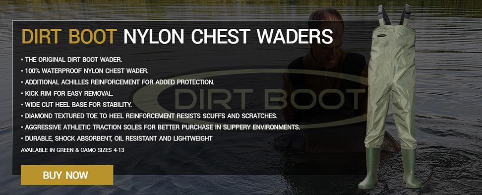 Dirt Boot Nylon Chest Waders