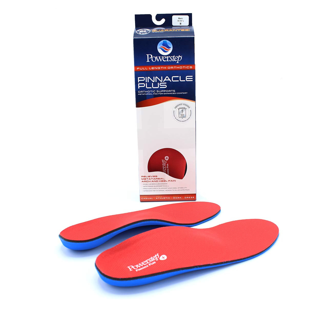 210fe8d04b ... Powerstep 5009 Pinnacle Plus Full Length Orthotic Shoe Inserts ...