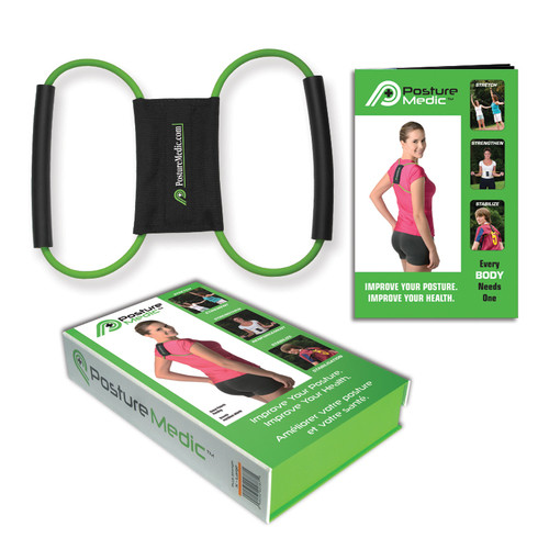 PostureMedic Plus Posture Corrector Brace - Improve Posture with Support and Exercises, Orange (XLarge)