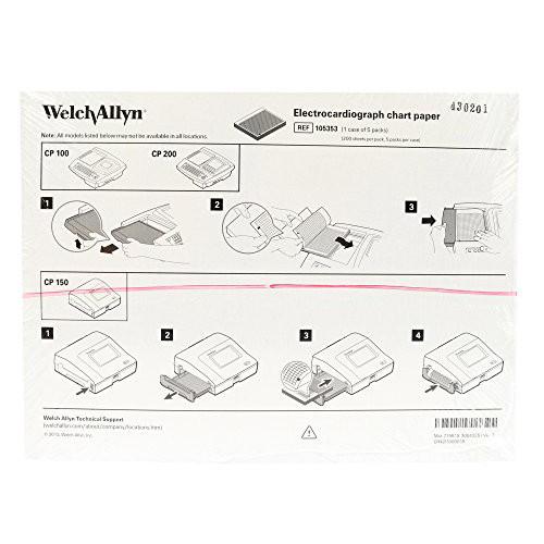 Welch Allyn 105353,ECG Chart Paper CP100/200/150/250