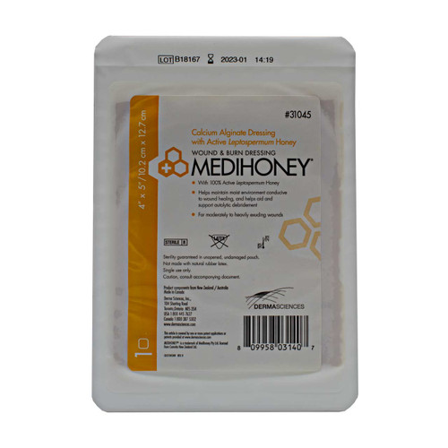 Derma Sciences 31045 Calcium Alginate Dressing Leptospermum Medihoney