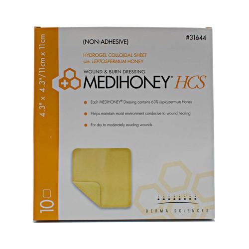 Derma Sciences 31644 Medihoney Hydrogel Colloidal Sheet, Leptospermum Dressing