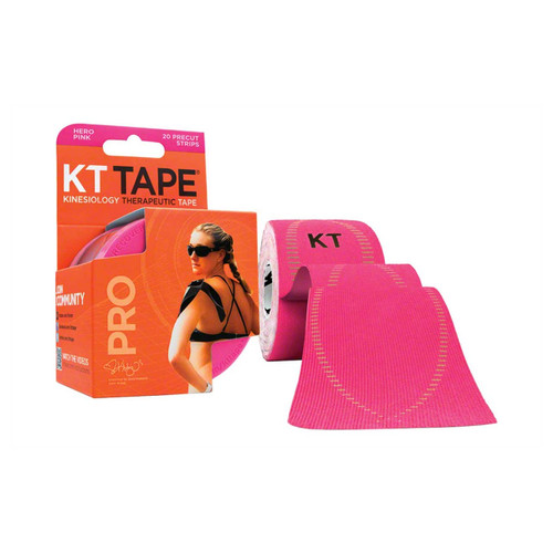 """KT Tape Pro Synthetic Kinesiology Therapeutic Sports Tape, 20 Precut 10"""" Strips (Hero Pink)"""