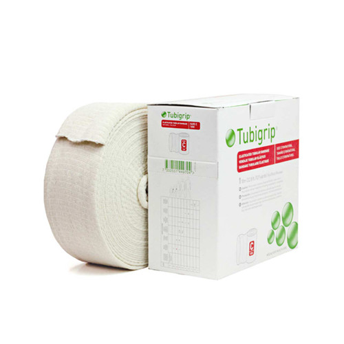 """Molnlycke 1443 Tubigrip Elastic Tubular Support Bandage - Size C, 2.75"""" x 10 Meter (32.81ft) roll, Natural (1 Roll)"""
