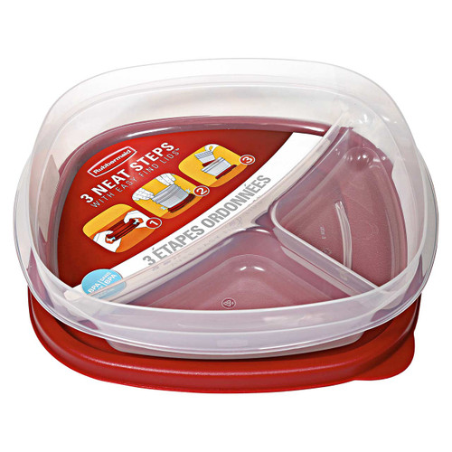 Rubbermaid 1777174 Easy Find Lids Food Storage Container, Divided (4.8 Cups)