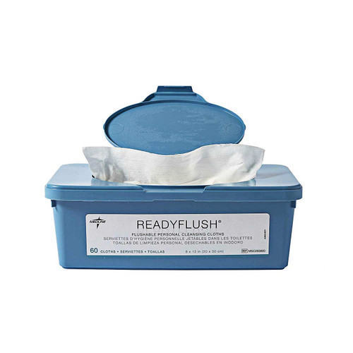 Medline MSC263800H ReadyFlush Biodegradable Flushable Personal Cleansing Wipes