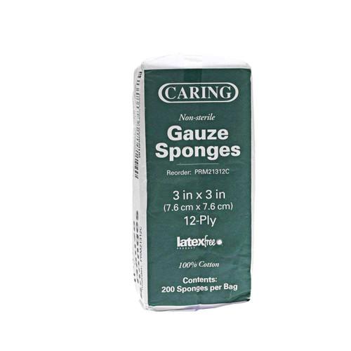 Medline PRM21312CZ Caring Woven Non-Sterile Gauze Sponges