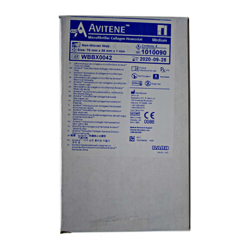 BARD Avitene Non-Woven Web Sheets (Box of 6)