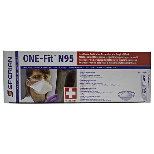 Sperian Respiratory Protection, Flat Fold Particulate Respirator & Surgical Masks (Box of 20)