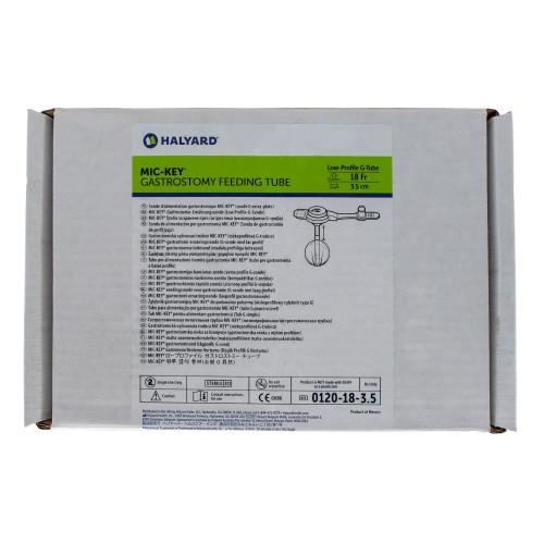 MIC-Key, 0120-18-3.5, Low Profile Gastrostomy Feeding Tube Kit 18 Fr. 3.5 cm
