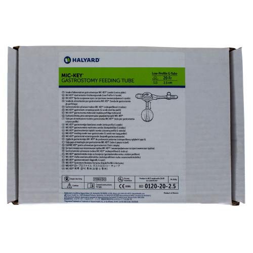 MIC-Key, 0120-20-2.5, Low Profile Gastrostomy Feeding Tube Kit 20 Fr. 2.5 cm