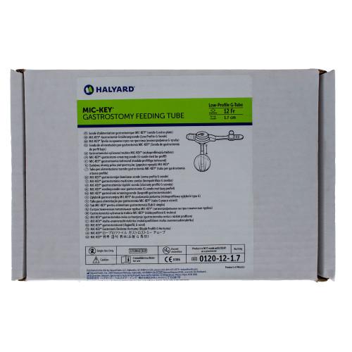 MIC-Key, 0120-12-1.7, Low Profile Gastrostomy Feeding Tube Kit 12 Fr. 1.7 cm