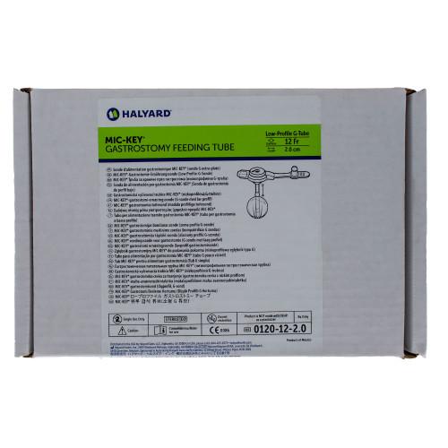 MIC-Key, 0120-12-2.0, Low Profile Gastrostomy Feeding Tube Kit 12 Fr. 2.0 cm