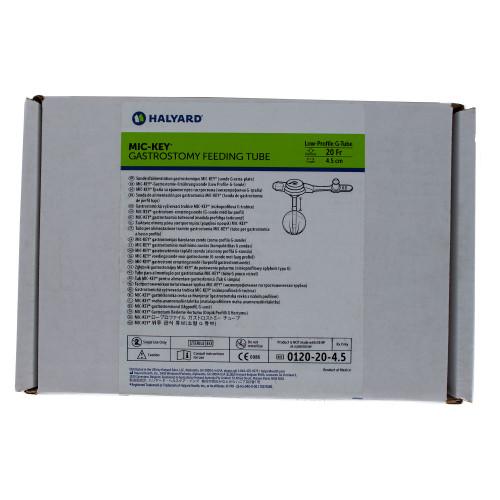 MIC-Key, 0120-20-4.5, Low Profile Gastrostomy Feeding Tube Kit 20 Fr. 4.5 cm