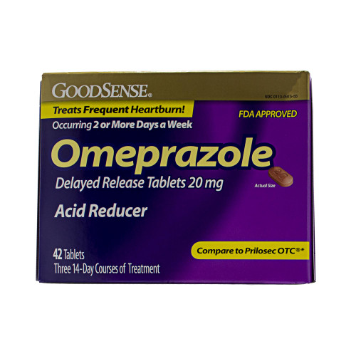GoodSense Omeprazole Delayed Release Tablets, Acid Reducer, Treats Heartburn,  20 mg (42 Count)