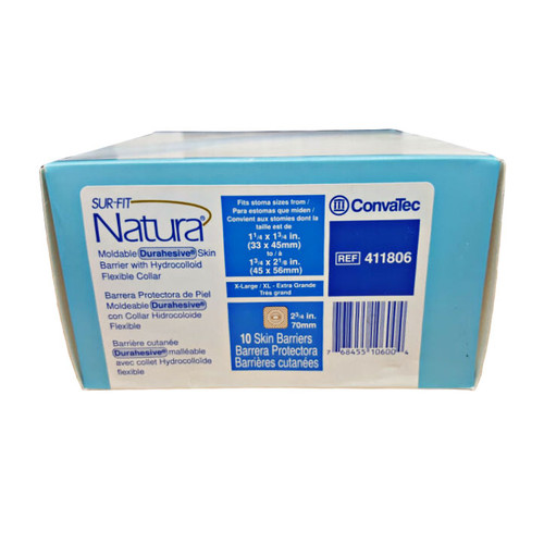 Convatec 411806 Sur-Fit Natura Moldable Durahesive Skin Barrier (Box of 10)