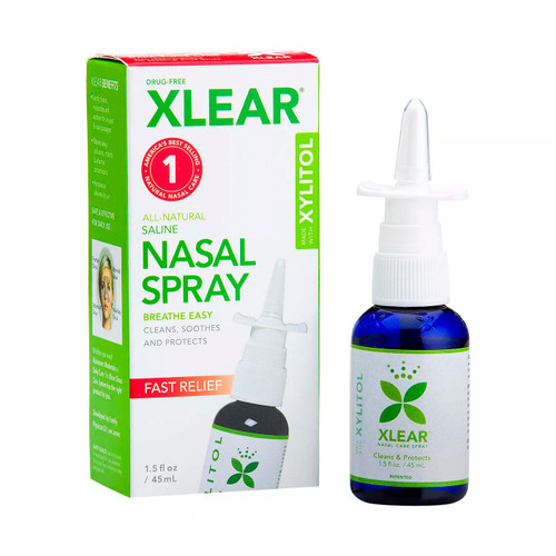 Xlear Natural, Fast Relief Saline Nasal Spray (1.5 fl oz)