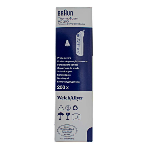 Welch Allyn 06000-800 Braun ThermoScan Disposable Probe Covers for PRO 6000 Series