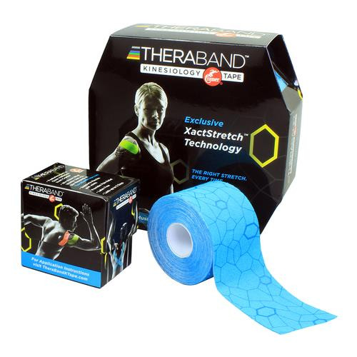 """TheraBand Kinesiology Tape 2"""" x 103.3Ft Bulk Roll, Blue/Blue"""