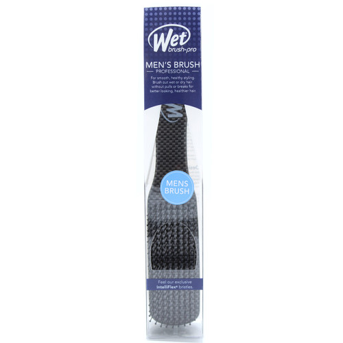 Wet Brush Men's Detangling Slim Hair Brush, Black
